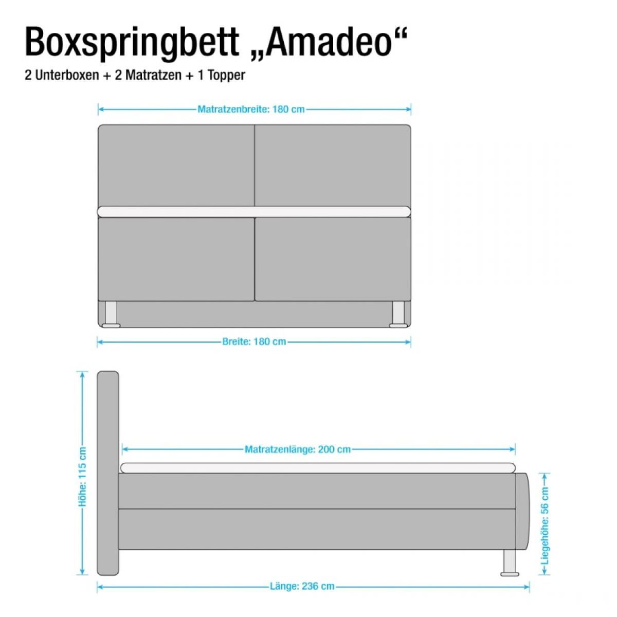 Boxspringbett Amadeo Übersicht