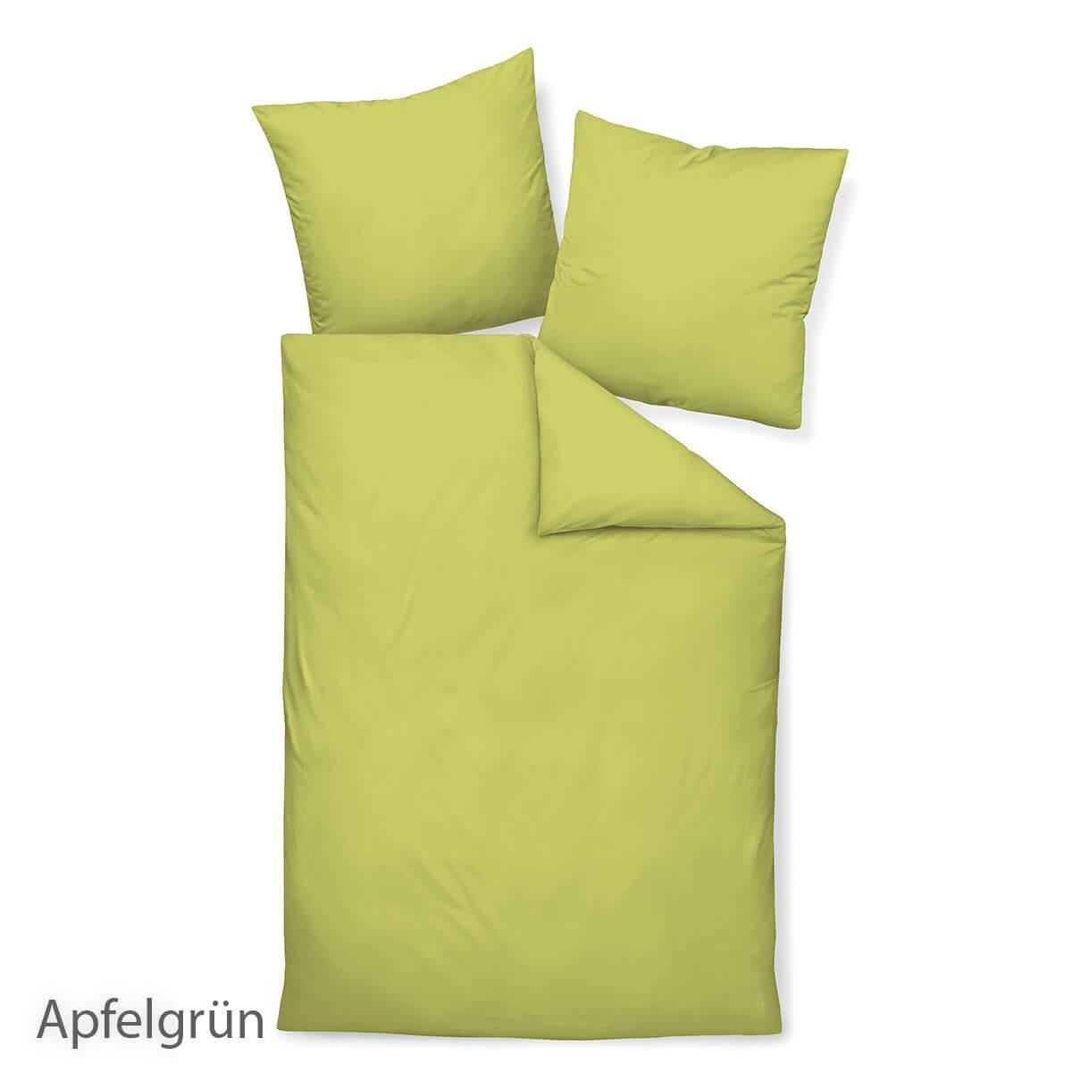Janine Colors 31001 Bettwäsche - Apfelgrün - Grün