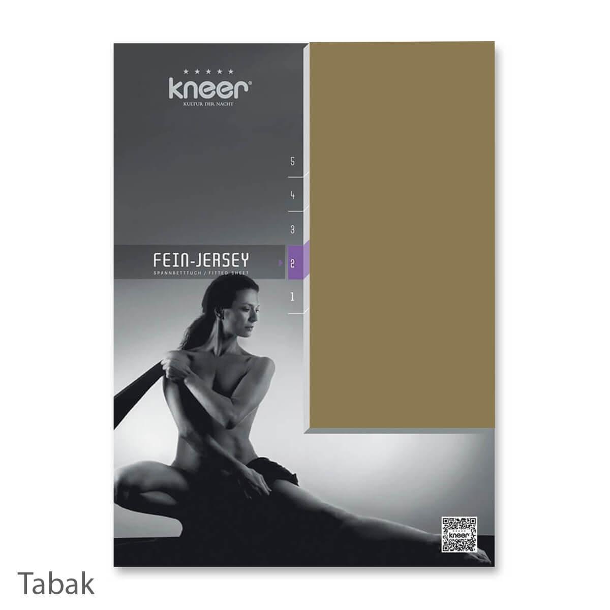 Kneer Fein-Jersey Qualität 50 Spannbetttuch - Tabak
