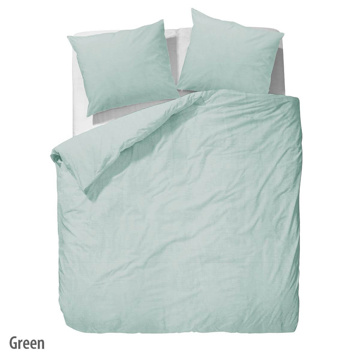 Bettwäsche Washed Linen - Green